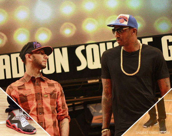 Amare Stoudemire In Air Jordan 13 Playoff + Swizz Beats @ 'Go NY Go' Filming