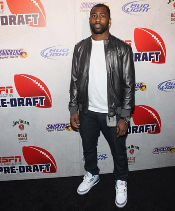 Darrelle Revis In Air Jordan III True Blue ESPN 8th Annual Pre Draft Party