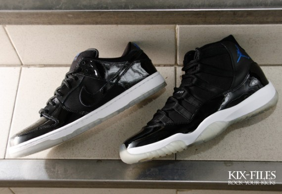 Nike SB Dunk Low Space Jam  vs  Air Jordan XI Space Jam