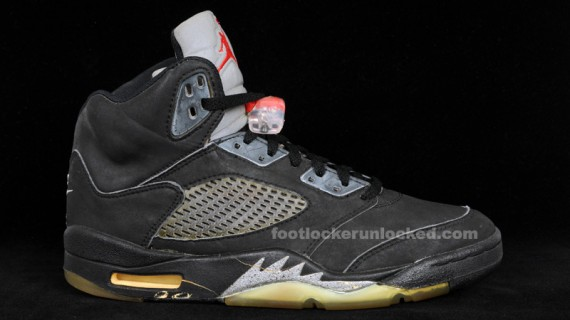 Air Jordan V: Black   Metallic Silver   Original