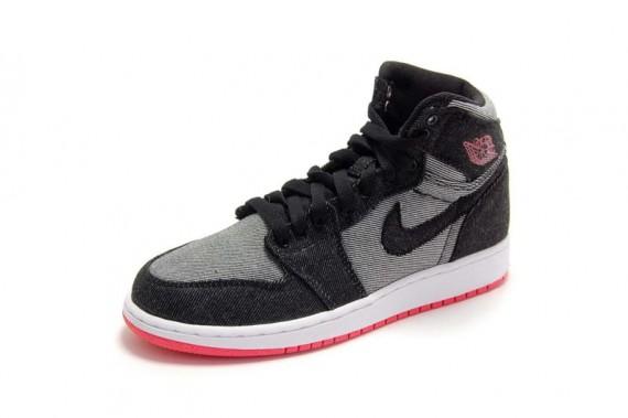 air jordan shoes for girls black. air jordan 1 girls: black \u2013 alarming red | available shoes for girls a