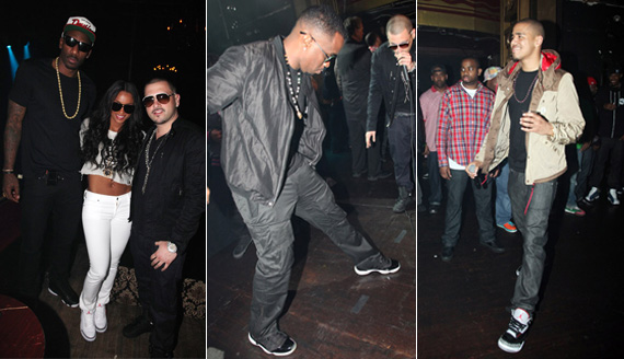 Amare, Ciara, Diddy, J Cole in Air Jordans @ DJ Prostyle Celebrity Birthday Bash