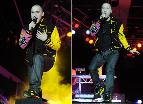 Mike Posner Wearing Air Jordan IV Thunder At Sunfest