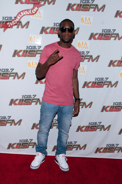 Tinie Tempah Wearing Air Jordan III White Cement