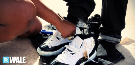 Wale un DS Air Jordan XI DMP In Maybach Music Group Self Made Photo Shoot