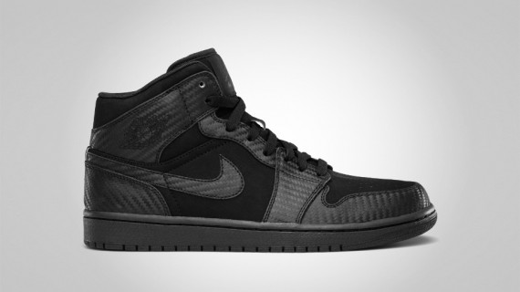 Air Jordan 1 Phat: Black   Carbon Fiber