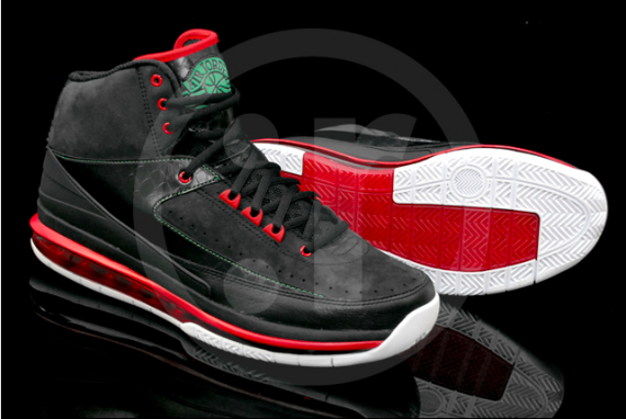 Air Jordan 2.0: Black/Classic Green/Varsity Red
