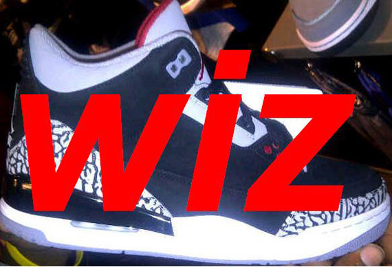 Air Jordan III: Black Cement   Nubuck Sample