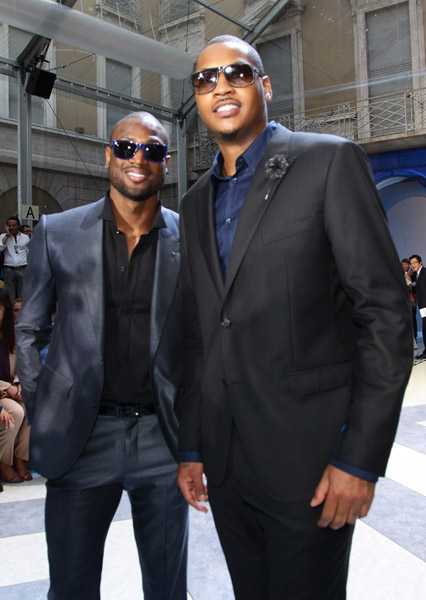 Jordan Brand Athletes: Dwyane Wade & Carmelo Anthony @ Milan Fashion Week