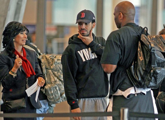 Drake Wearing Air Jordan III White   Cement