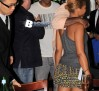 Jay Z out to dinner with friends at Nello's in New York City.