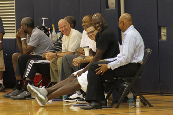 Michael Jordan Wears Cool Grey XI @ Bobcats Draft Workout