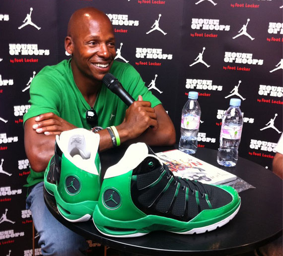 Jordan Brand Athlete Ray Allen Signing Autographs At House of Hoops Paris