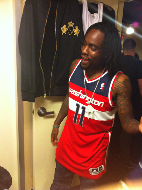 Wale Wears Air Jordan III True Blue on Jimmy Kimmel Live
