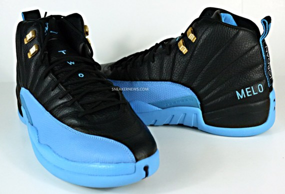 838e1291b035 ... Air Jordan XII Carmelo Anthony Away PE - Air Jordans