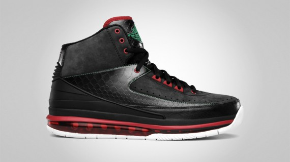 Air Jordan 2.0: Black   Classic Green   Varsity Red
