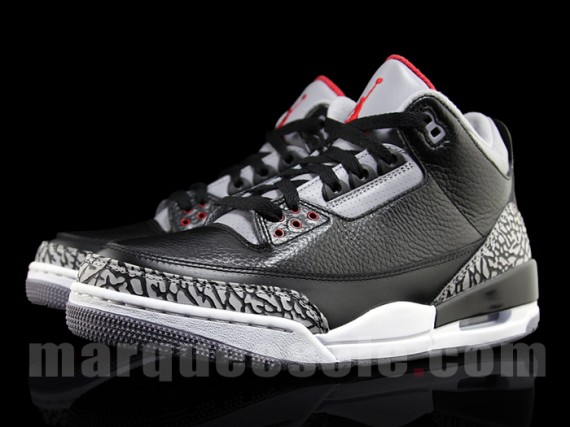 Air Jordan III: Black Cement   2011 Retro