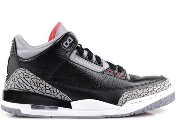 Air Jordan III Black Cement  Available   Osneaker - Air Jordans ... 49bd778cc3