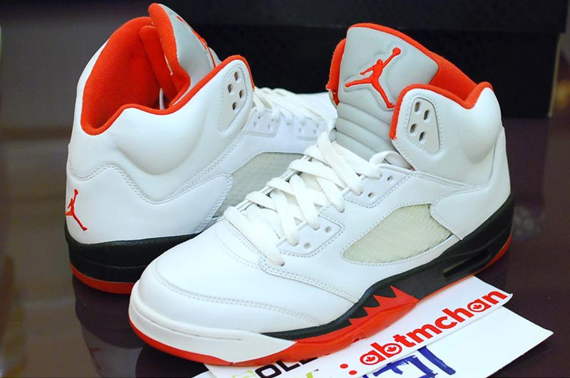 Air Jordan V: White Black Orange   Trial Sample