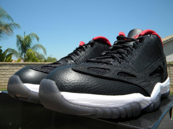 Air Jordan XI IE Low: Black / Red   Release Reminder