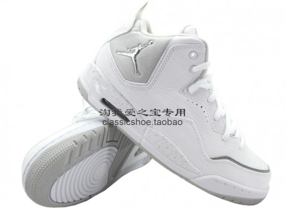 Jordan Courtside: White / White