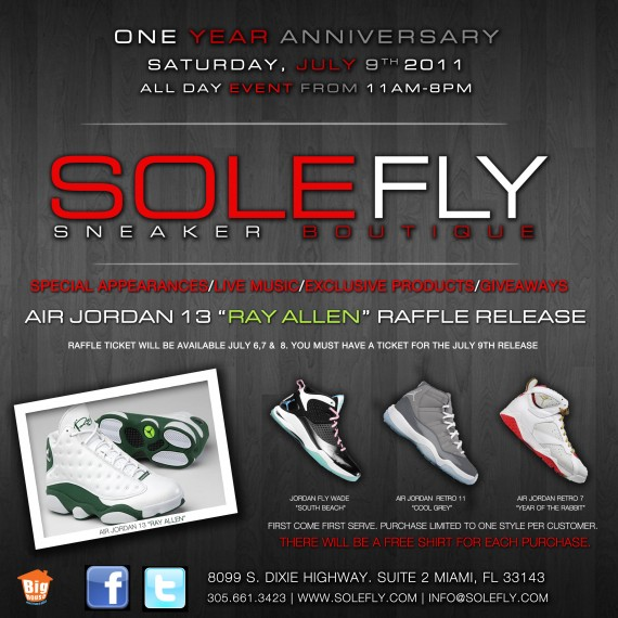 Solefly One Year Anniversary Air Jordan Releases