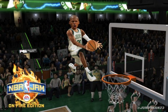 Air Jordan 2011 Ray Allen PEs in NBA Jam
