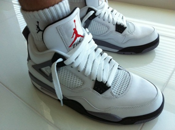 Air Jordan IV: Cement Sample   Another Look