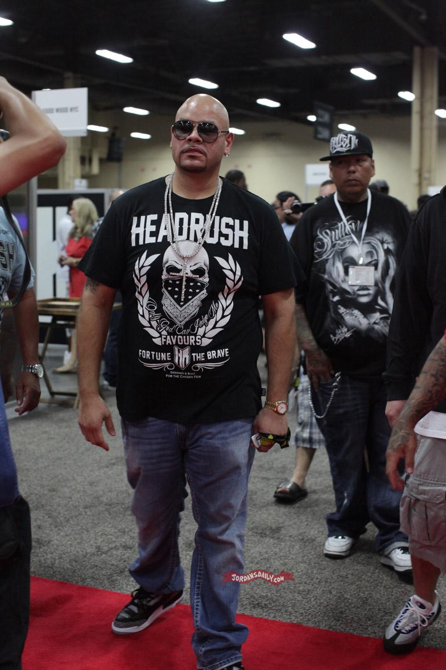 Fat Joe Wearing Air Jordan III Black