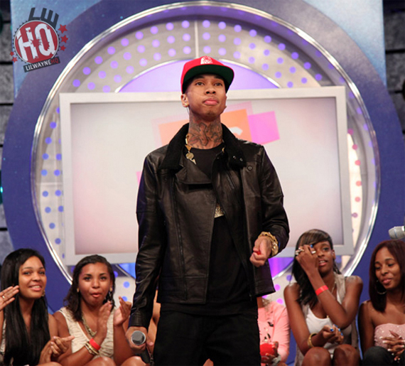 Tyga Wearing Air Jordan III Black Cement