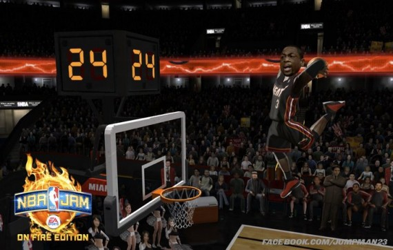 Air Jordan 2011 PEs in NBA JAM: On Fire Edition