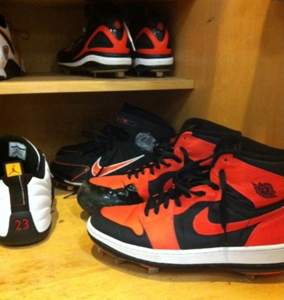 Air Jordan 1: Jeremy Guthrie Custom PE Cleats