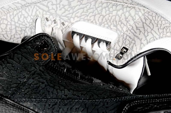 Air Jordan III Flip: Black vs. White Comparison
