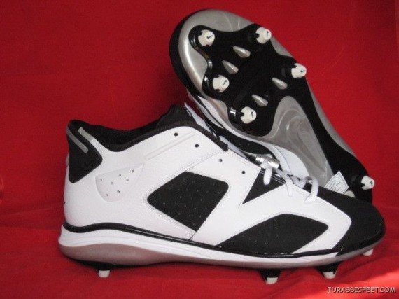 Air Jordan VI Cleat: Black   White
