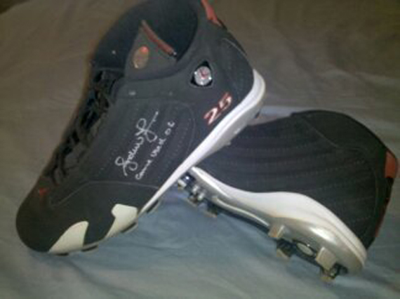 Air Jordan XIV Cleat: Andruw Jones Signed