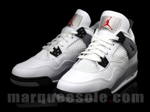 White Cement Air Jordan 4 GS   2012 Retro