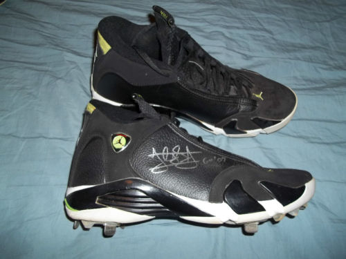 Air Jordan XIV Cleat: Jordan Schafer Signed
