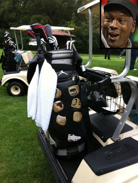 Michael Jordans Six Rings Golf Bag