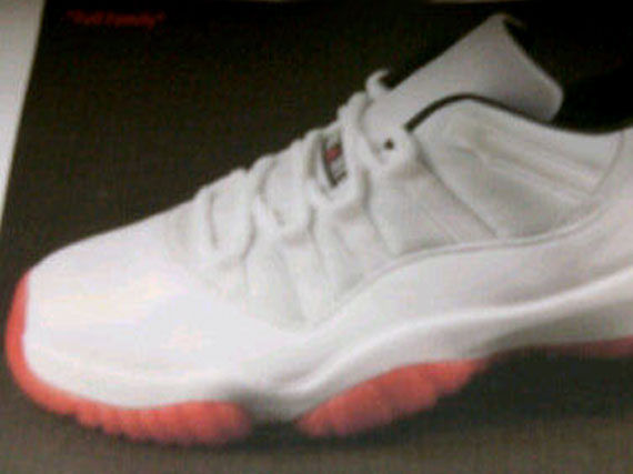 Air Jordan XI Low: White   Black   Varsity Red