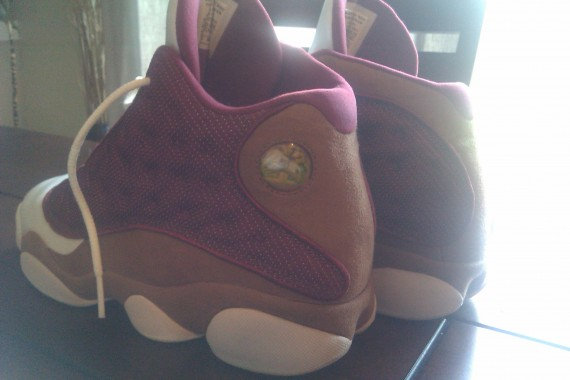 Air Jordan XIII: White   Desert Clay   Team Red Sample