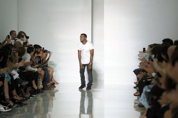 Kanye West Wears Air Jordan VI Black Red In First Runway Collection