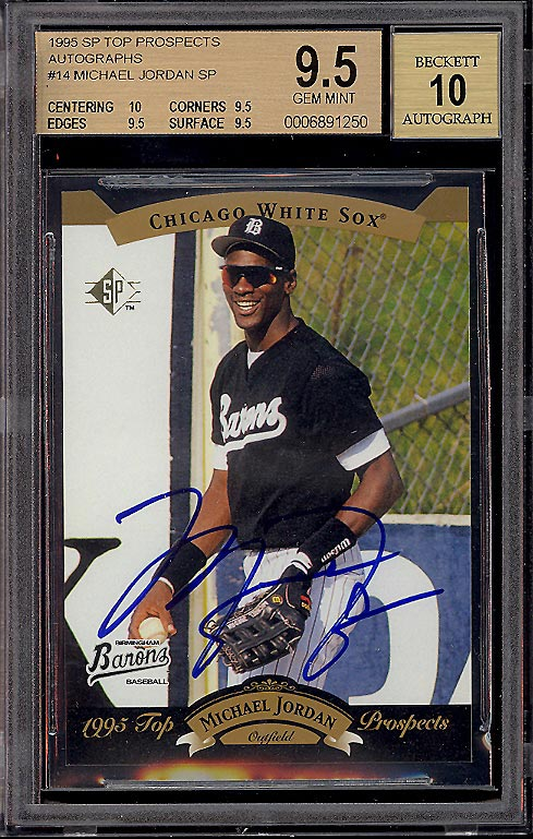 1995 Top Prospects Autographed Michael Jordan Baseball Card Sells for $14,000