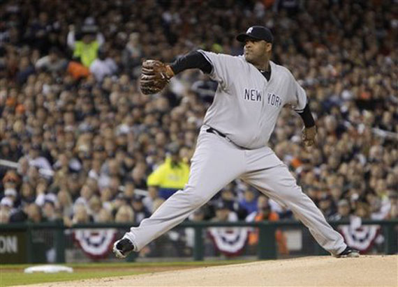 C.C. Sabathia Wears Air Jordan XI Space Jam Cleat