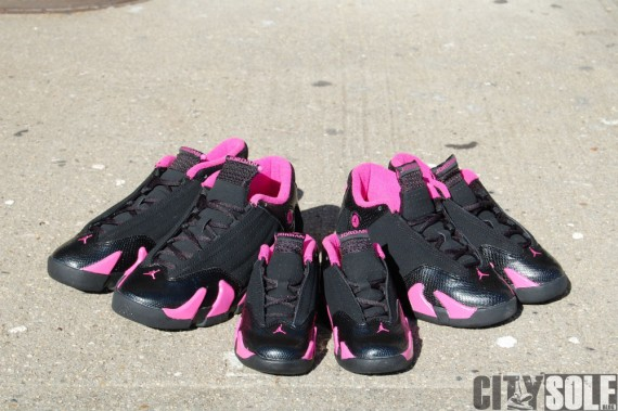 Air Jordan XIV GS: Black   Desert Pink   Detailed Look