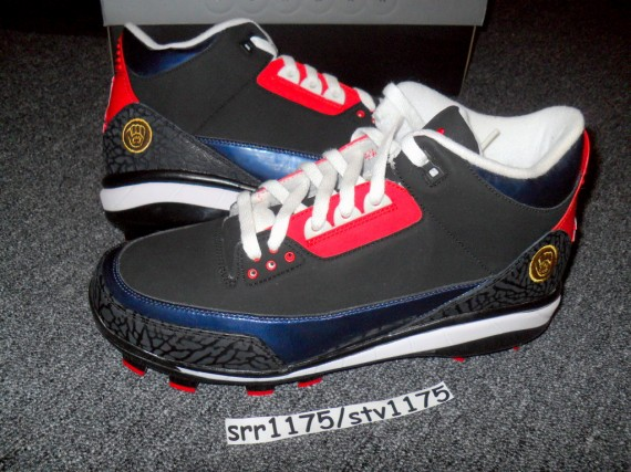 Air Jordan III: Andruw Jones Atlanta Braves PE Cleat