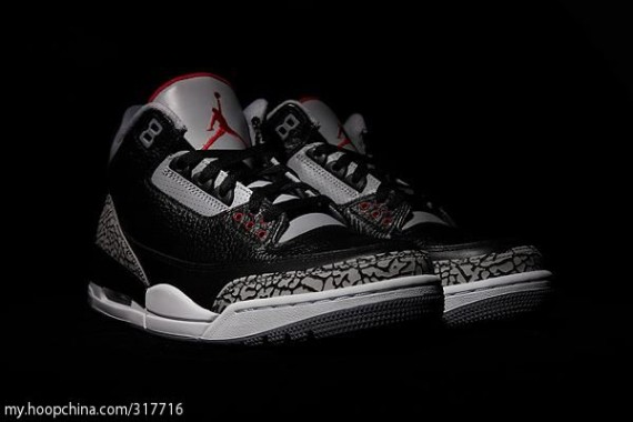 Air Jordan III Retro: Black Cement   Detailed Look