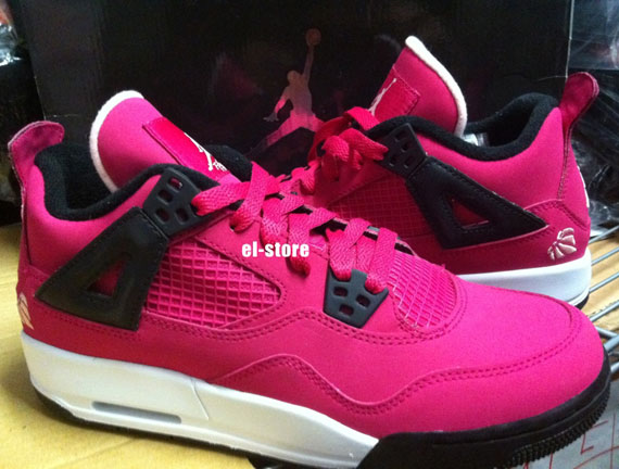 Air Jordan IV GS: Voltage Cherry   Available on eBay