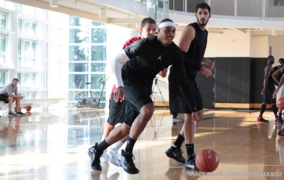 Team Jordan Works Out At Nike Pro Training Camp