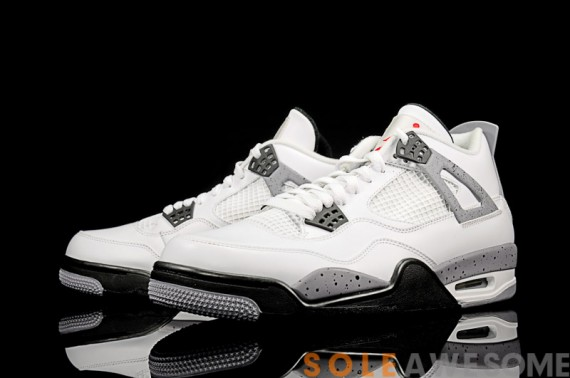 Air Jordan 4 Retro: White Cement   Detailed Look