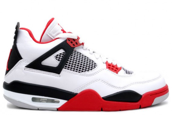 Air Jordan IV Retro: White   Red   2012 Release